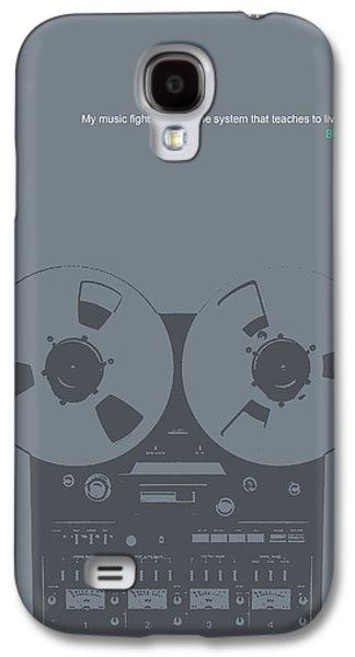 Sound Digital Art Galaxy S4 Cases - Bob Marley Poster Galaxy S4 Case by Naxart Studio