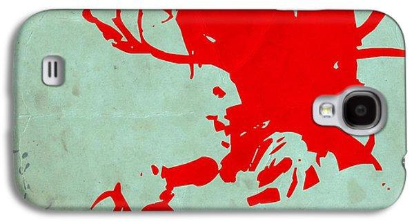 Bob Paintings Galaxy S4 Cases - Bob Marley Red Galaxy S4 Case by Naxart Studio