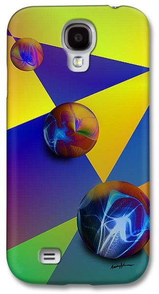 Abstract Digital Digital Art Galaxy S4 Cases - Bocce Galaxy S4 Case by Anthony Caruso