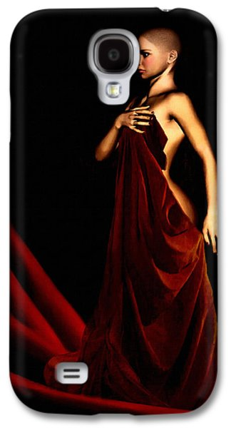 Portraits Digital Art Galaxy S4 Cases - Bold and Red Galaxy S4 Case by Lourry Legarde