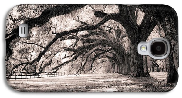 Trees Photographs Galaxy S4 Cases - Boone Hall Plantation Live Oaks Galaxy S4 Case by Dustin K Ryan