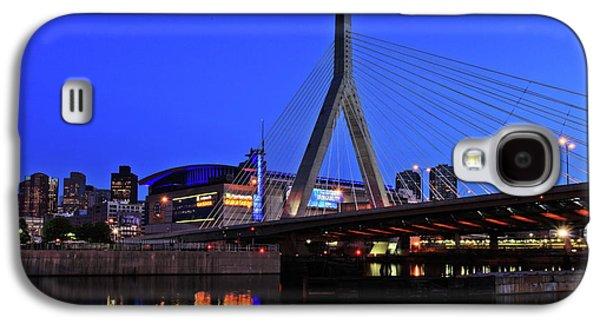River Photographs Galaxy S4 Cases - Boston Garden and Zakim Bridge Galaxy S4 Case by Rick Berk