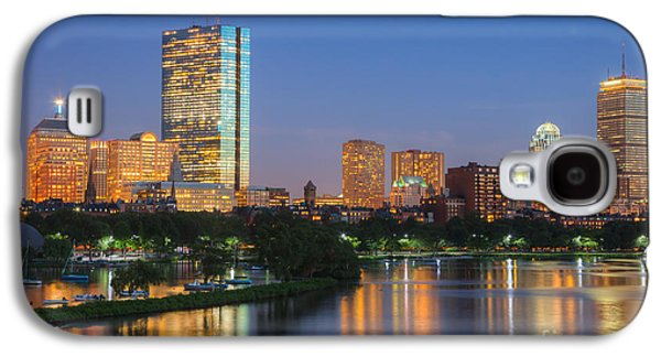 Charles River Galaxy S4 Cases - Boston Night Skyline II Galaxy S4 Case by Clarence Holmes