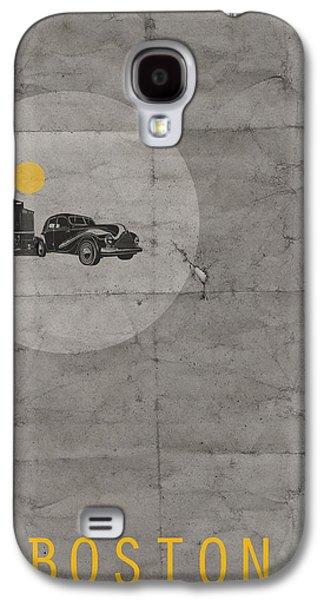 Grey Digital Art Galaxy S4 Cases - Boston Poster Galaxy S4 Case by Naxart Studio