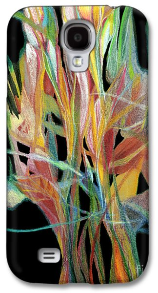 Colored Pencil Abstract Drawings Galaxy S4 Cases - Bouquet Galaxy S4 Case by Ann Powell