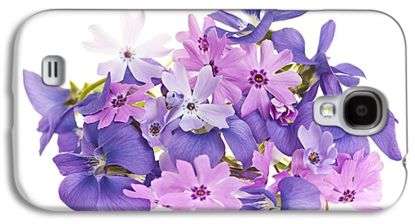 Violet Galaxy S4 Cases - Bouquet of spring flowers Galaxy S4 Case by Elena Elisseeva