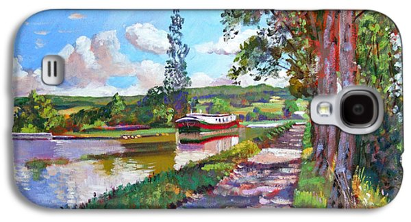 Pathways Paintings Galaxy S4 Cases - Bourgogne Canal Galaxy S4 Case by David Lloyd Glover