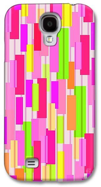 Box Galaxy S4 Cases - Boxed Stripe Galaxy S4 Case by Louisa Knight