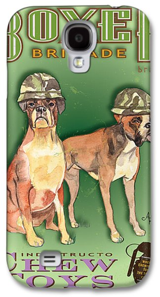 Boxer Pastels Galaxy S4 Cases - Boxer Brigade Chew Toys Galaxy S4 Case by Amelia Hunter
