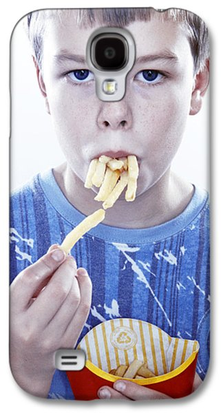Person Galaxy S4 Cases - Boy Eating French Fries Galaxy S4 Case by Kevin Curtis