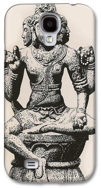 Religious Galaxy S4 Cases - Brahma, Hindu God Galaxy S4 Case by Photo Researchers