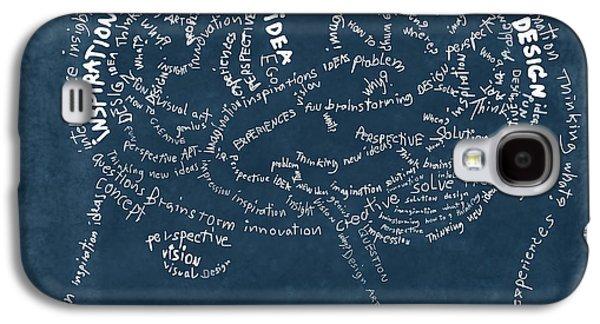Thinking Galaxy S4 Cases - Brain drawing on chalkboard Galaxy S4 Case by Setsiri Silapasuwanchai