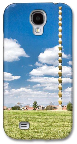 Symetry Galaxy S4 Cases - Brancusis Infinite Column Galaxy S4 Case by Gabriela Insuratelu