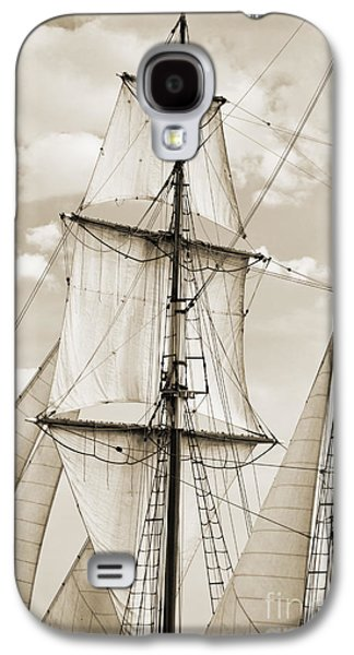 Tall Ship Galaxy S4 Cases - Brigantine Tallship Fritha Sails and Rigging Galaxy S4 Case by Dustin K Ryan
