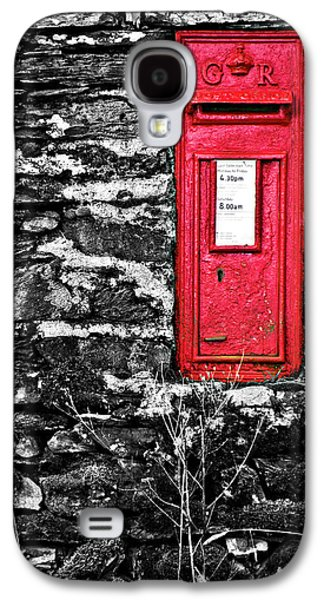 Wall Galaxy S4 Cases - British Red Post Box Galaxy S4 Case by Meirion Matthias