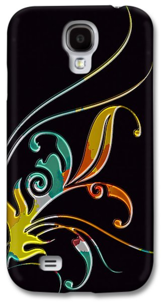 Abstract Digital Pyrography Galaxy S4 Cases - Broach  Galaxy S4 Case by Mauro Celotti