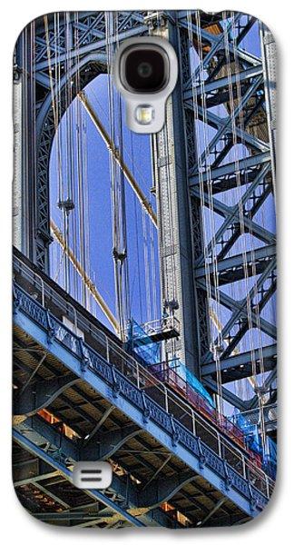 Manhattan Street Galaxy S4 Cases - Manhattan Bridge close-up Galaxy S4 Case by David Smith
