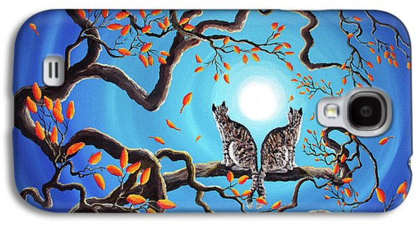 Gray Tabby Galaxy S4 Cases - Brothers Under a Blue Moon Galaxy S4 Case by Laura Iverson