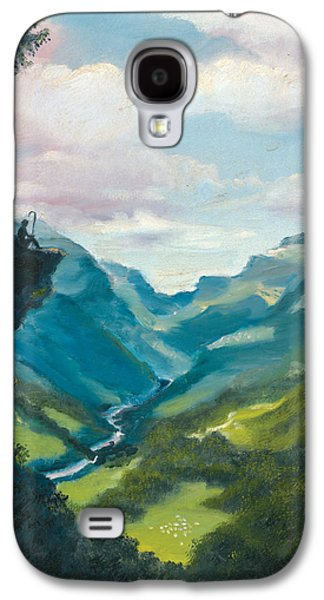 Tron Paintings Galaxy S4 Cases - Bruecke to Heaven Galaxy S4 Case by Timothy Tron
