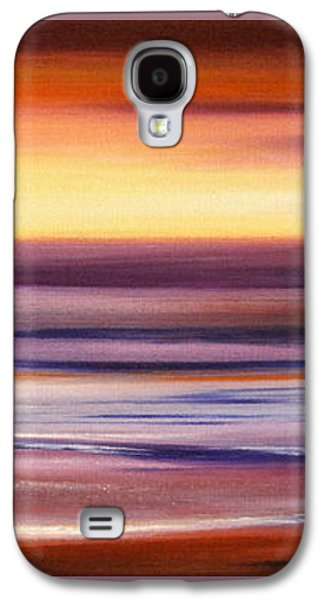 Sunset Abstract Galaxy S4 Cases - Brushed 2 Galaxy S4 Case by Gina De Gorna