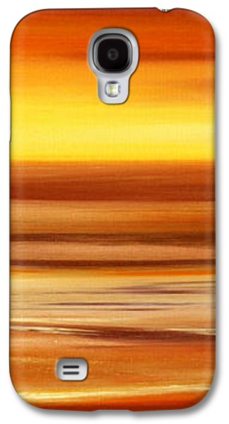 Recently Sold -  - Sunset Abstract Galaxy S4 Cases - Brushed 3 Galaxy S4 Case by Gina De Gorna