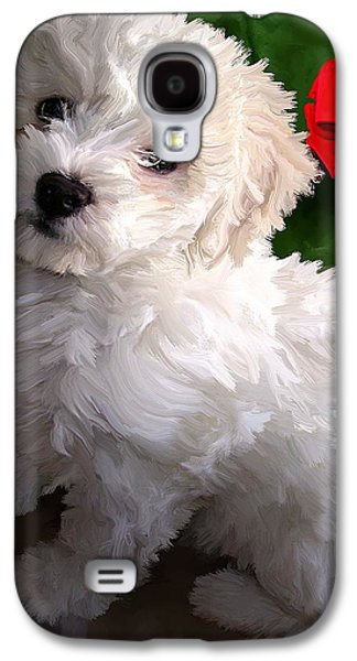 Puppies Digital Art Galaxy S4 Cases - Bryce Galaxy S4 Case by David Wagner