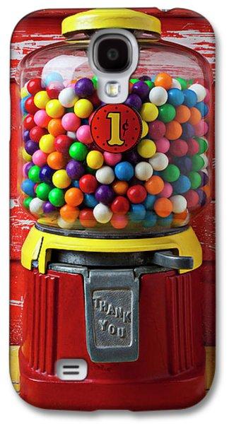 Bubblegum Machine And Gum Galaxy S4 Case by Garry Gay