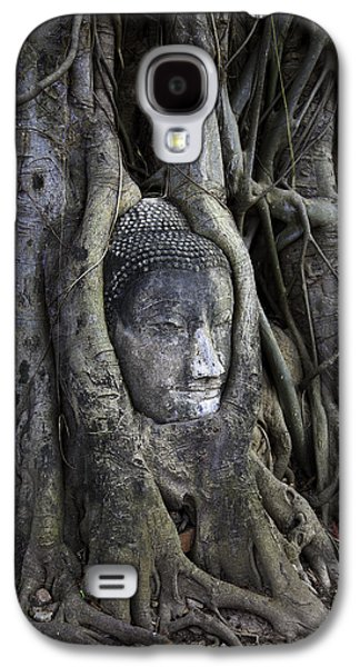 Ancient Galaxy S4 Cases - Buddha Head in Tree Galaxy S4 Case by Adrian Evans
