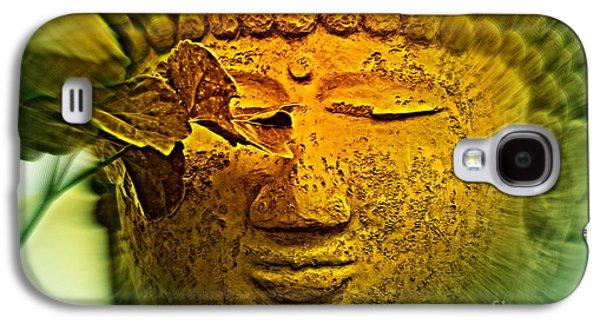 Statue Portrait Galaxy S4 Cases - Buddha in Deep Meditation Galaxy S4 Case by Susanne Van Hulst