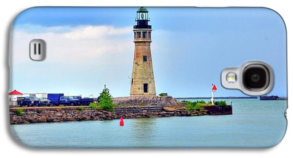 Struckle Galaxy S4 Cases - Buffalo Lighthouse Galaxy S4 Case by Kathleen Struckle