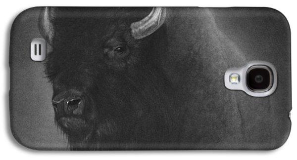 Original Drawings Galaxy S4 Cases - Buffalo Galaxy S4 Case by Tim Dangaran
