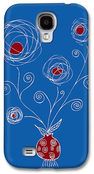 Swirly Galaxy S4 Cases - Bulb Flower Galaxy S4 Case by Frank Tschakert