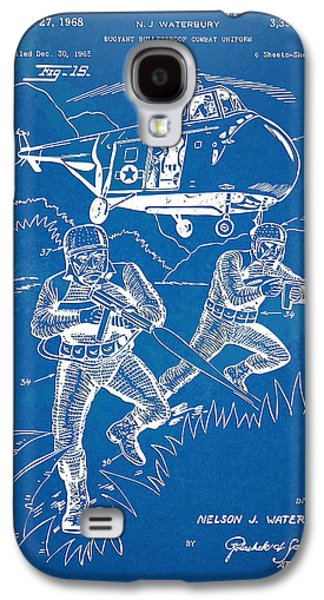 Fight Digital Art Galaxy S4 Cases - Bulletproof Patent Artwork 1968 Figure 15 Galaxy S4 Case by Nikki Marie Smith