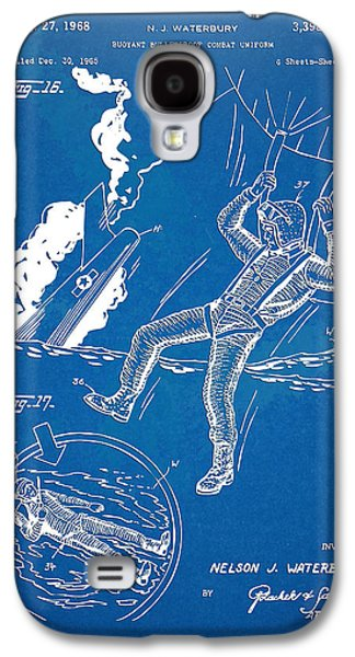 Fight Digital Art Galaxy S4 Cases - Bulletproof Patent Artwork 1968 Figures 16 to 17 Galaxy S4 Case by Nikki Marie Smith