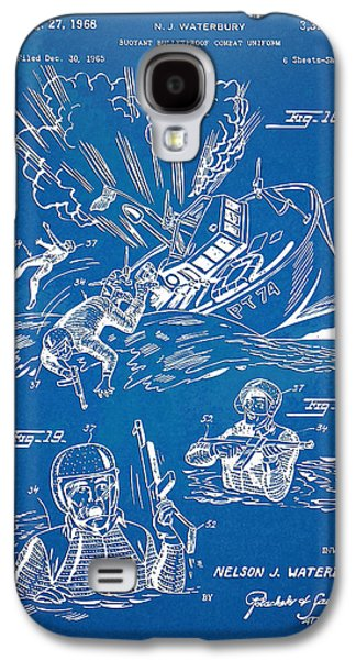 Fight Digital Art Galaxy S4 Cases - Bulletproof Patent Artwork 1968 Figures 18 to 20 Galaxy S4 Case by Nikki Marie Smith