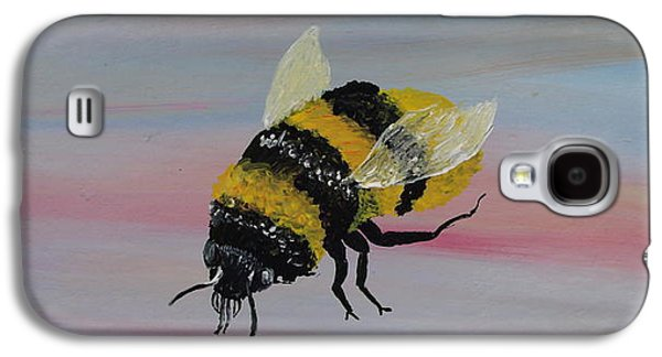 Grey Sculptures Galaxy S4 Cases - Bumble Bee Galaxy S4 Case by Mark Moore