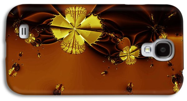 Algorithmic Abstract Galaxy S4 Cases - Bumble Beez Over Chocolate Lake . Square . S19 Galaxy S4 Case by Wingsdomain Art and Photography