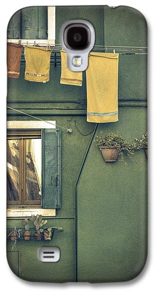Green Galaxy S4 Cases - Burano - green house Galaxy S4 Case by Joana Kruse