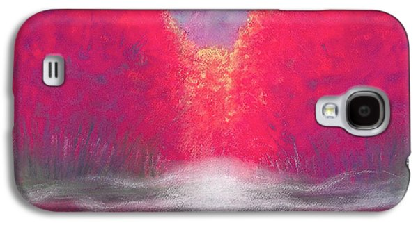 Waterscape Pastels Galaxy S4 Cases - Burning Lake  pastel Galaxy S4 Case by Yoshiko Mishina