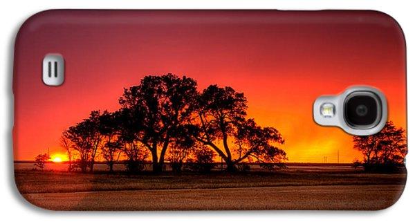 Rain Storm Galaxy S4 Cases - Burning Sunset Galaxy S4 Case by Thomas Zimmerman