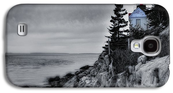Maine Shore Galaxy S4 Cases - Burning the Midnight Oil - Bass Harbor Galaxy S4 Case by Thomas Schoeller