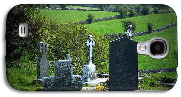 Headstones Galaxy S4 Cases - Burren Crosses County Clare Ireland Galaxy S4 Case by Teresa Mucha