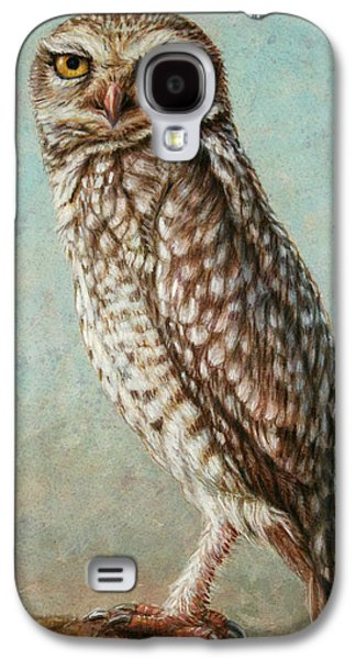 Nature Drawings Galaxy S4 Cases - Burrowing Owl Galaxy S4 Case by James W Johnson