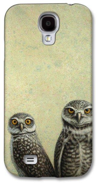 Prairie Galaxy S4 Cases - Burrowing Owls Galaxy S4 Case by James W Johnson