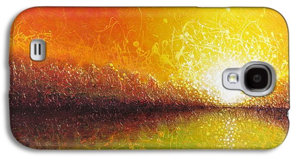 Abstract Landscape Galaxy S4 Cases - Bursting Sun Galaxy S4 Case by Jaison Cianelli