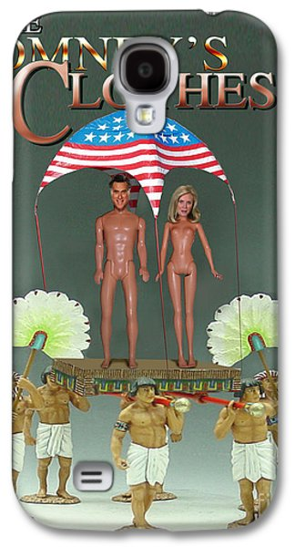 Republican Party Galaxy S4 Cases - But-But They Are Not Wearing Any Clothes - Mitt Ken and Anne Barbie Romney  Galaxy S4 Case by Reggie Duffie