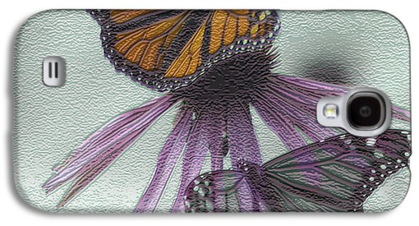 Digital Art Greeting Cards Galaxy S4 Cases - Butterflies under glass Galaxy S4 Case by Evelyn Patrick