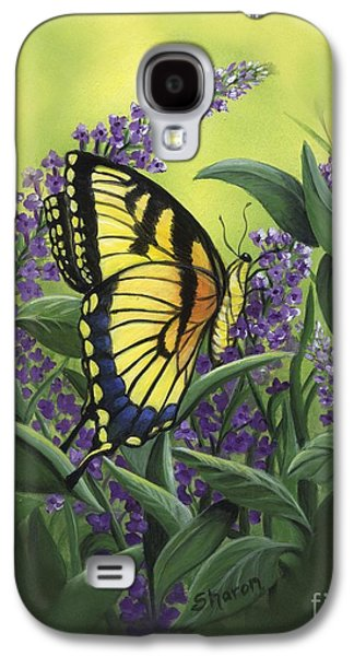 Lilacs Drawings Galaxy S4 Cases - Butterfly 2 Galaxy S4 Case by Sharon Molinaro