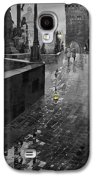 Charles Digital Art Galaxy S4 Cases - BW Prague Charles Bridge 01 Galaxy S4 Case by Yuriy  Shevchuk