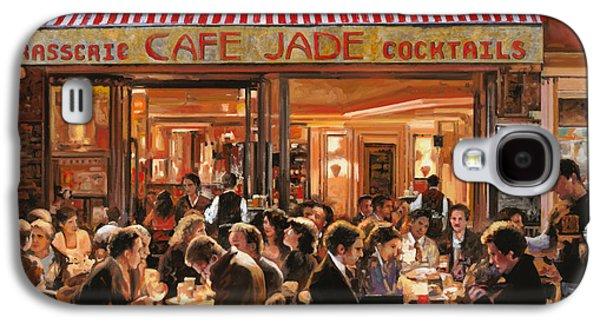 Wine Scene Galaxy S4 Cases - Cafe Jade Galaxy S4 Case by Guido Borelli